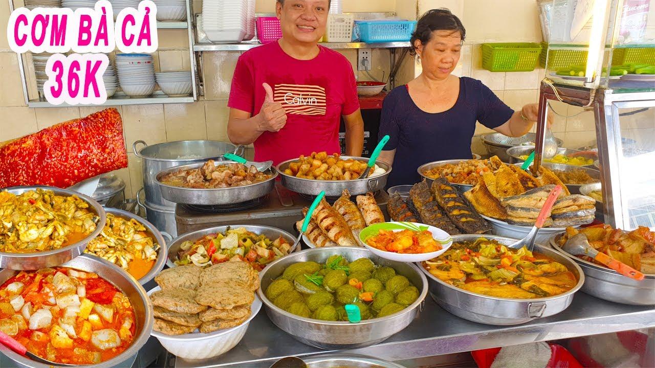 CƠM BÀ CẢ gần 60 năm   Thịt luộc cà pháo mắm tôm vị Bắc ở Trung Tâm Sài Gòn