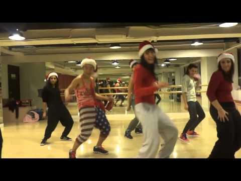 Hilary Thompson teaches intermediate hip hop  Christmas Special!!!!