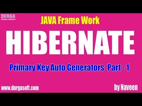 Hibernate tutorial   Primary Key Auto Generators Part - 1 by Naveen