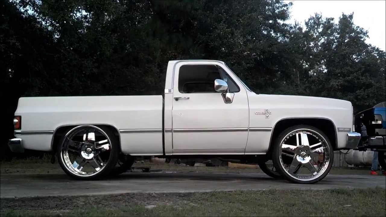 short bed chevy silverado truck squatted on 26 u0026quot  forgiatos   bat96chevy cookout