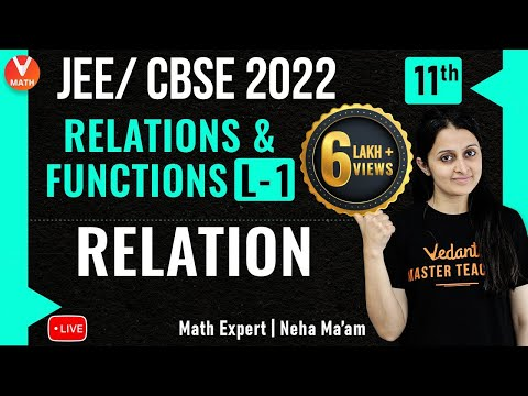 Relations & Functions L-1 | Relations | Class 11 | JEE Maths | JEE/CBSE 2021 | Vedantu