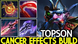 TOPSON [Sniper] Right Clİck Mid with Cancer Effects Build Dota 2