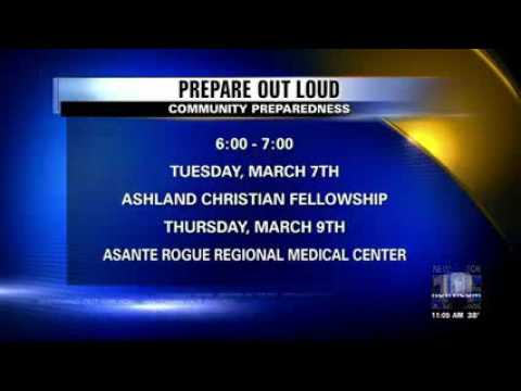 KDRV (ABC) Medford 03-01-2017 Southern Oregon Prepare Out Loud! Events in March