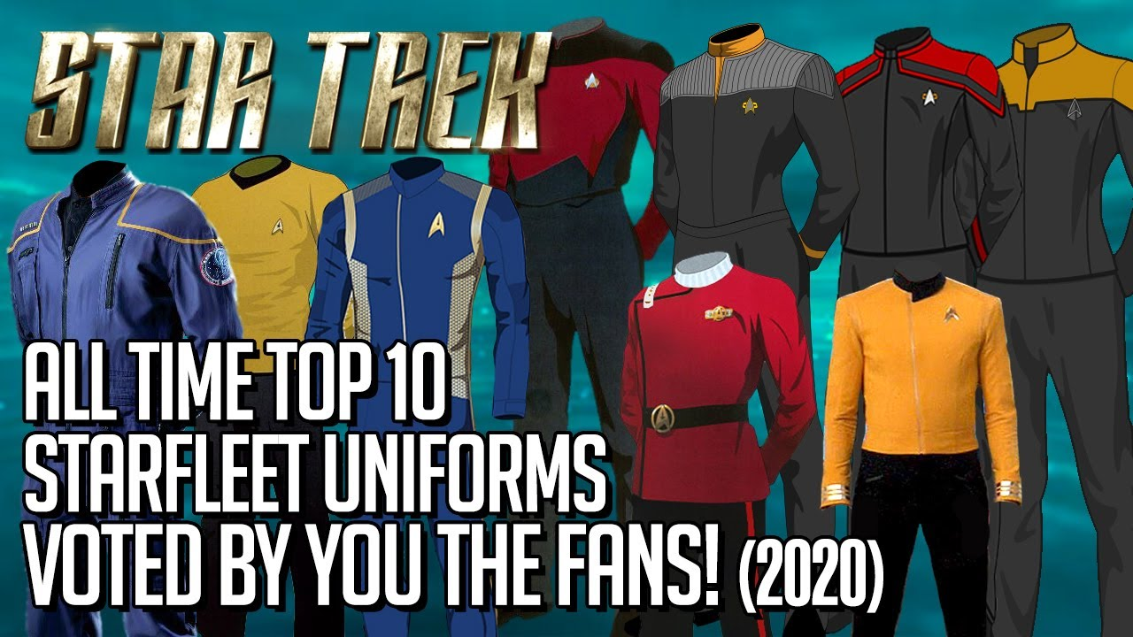 Star Trek Top 10 Starfleet Uniforms of All Time! (2020)
