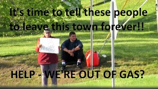 BUSTED! Scamming Walmart Panhandlers Drive Big RV?   Jason Asselin