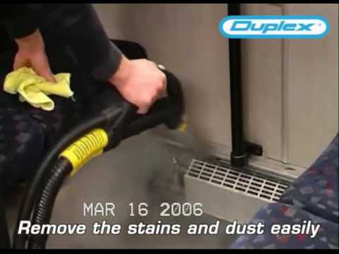 Transportation Industry Cleaning with Duplex Steam Cleaner