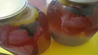 Березовый сок с чаем каркаде