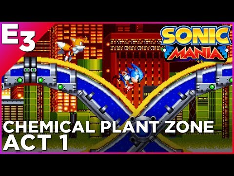 SONIC MANIA: Chemical Plant Zone, Act 1 GAMEPLAY — Polygon @ E3 2017