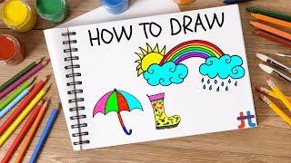 Rainy Day Drawing | Desenho do Dia de Chuva