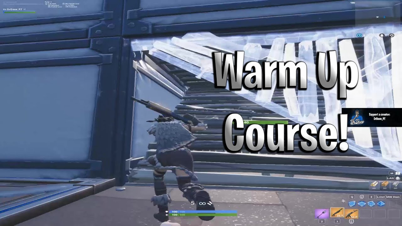 Fortnite Warm Up Course! Aim, Edit, Build Practice - YouTube
