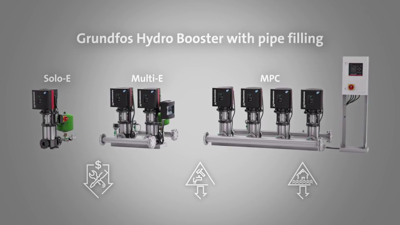 Grundfos Hydro booster pipe filling function