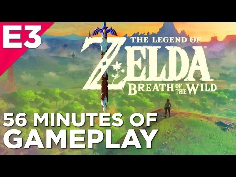 56 Minutes of THE LEGEND OF ZELDA: BREATH OF THE WILD Hands-On Gameplay from E3 2016!