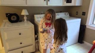 Kendall and Avery on a Christmas Scavenger Hunt to find their gift from Grandma and Grandpa Jim