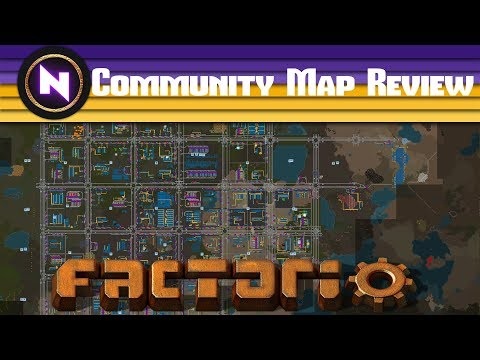 Factorio Engineering - BLOCK BASED TRAIN NETWORK - Community Map Review
