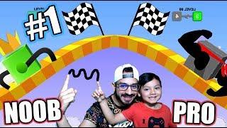 Patitas Locas con Karim   Draw Climber NOOB vs PRO Gameplay   Juegos Karim Juega