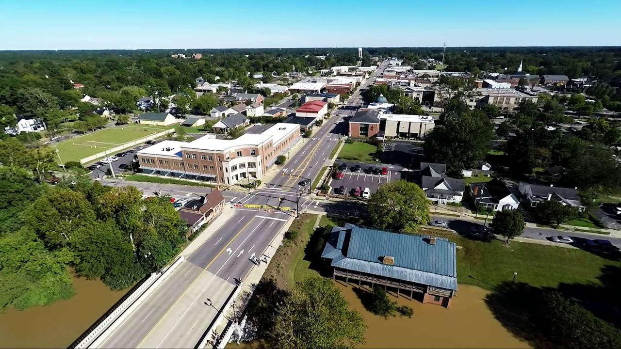 Hurricane Matthew Downtown Smithfield Nc Youtube