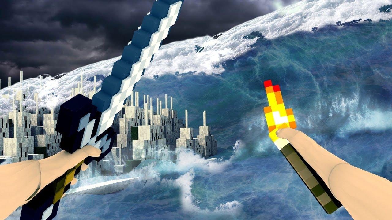 Minecraft | REALISTIC MINECRAFT TSUNAMI! Tsunami Natural Disaster ...