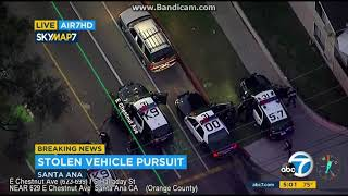 Santa Ana Police Chase - Stolen Vehicle Pursuit