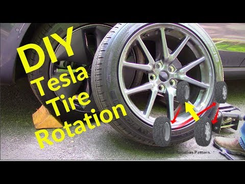 DIY Tesla Tire Rotation