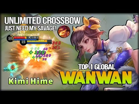 Too Much Pain! Unlimited Crossbow of Tang! K i m i H i m e Top 1 Global Wanwan - Mobile Legends