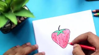 Strawberry Drawing Step by Step ✅ How to Draw an Strawberry Easy