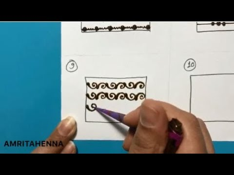 HENNA MEHNDI FOR BEGINNERS - TYPES OF LINES | BEST ONLINE MEHENDI LEARNING TUTORIAL