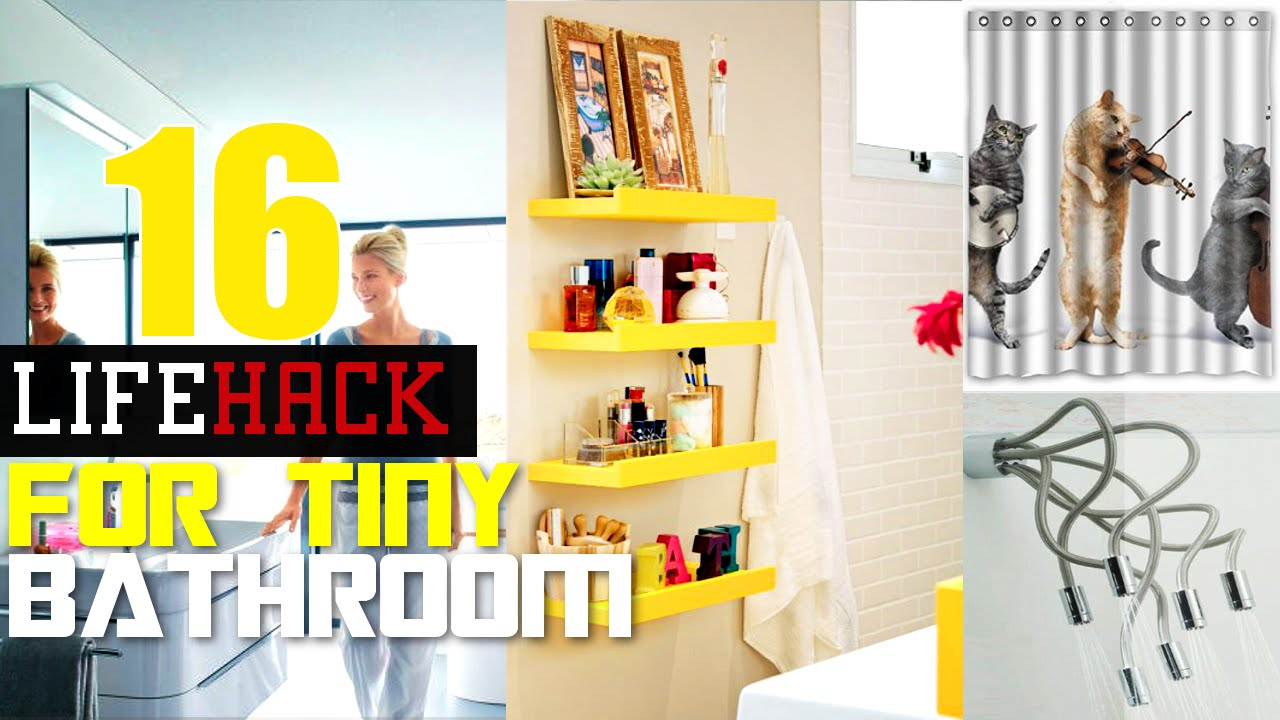 Small Bathroom Designs Youtube 16 smart small bathroom ideas - youtube