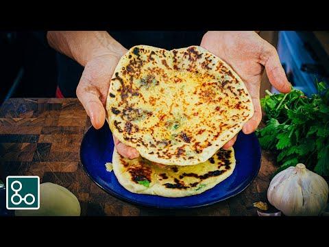 recette-facile-et-(presque)-express-de-naan-(au-fromage,-à-l'ail,-aux-herbes)---youcookcuisine
