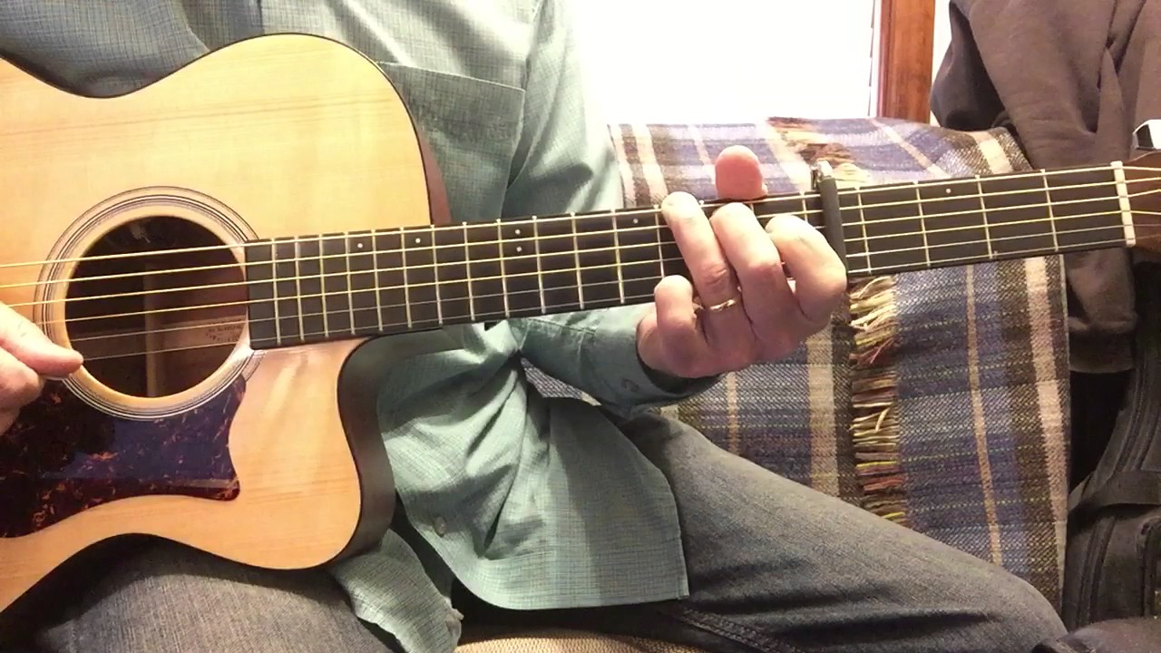 How To Play The Anchor Holds Chords In C Youtube