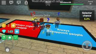 ROBLOX/Would You Rather/I get a lot of happiness?