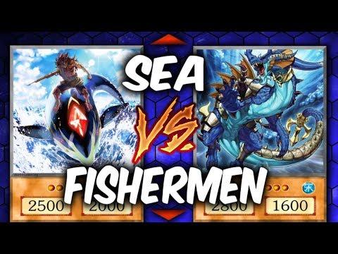 Yugioh FISHERMAN VS THE SEA!  LEGENDARY FISHERMAN Vs ATLANTEANS  (YU-GI-OH! Themed Decks)