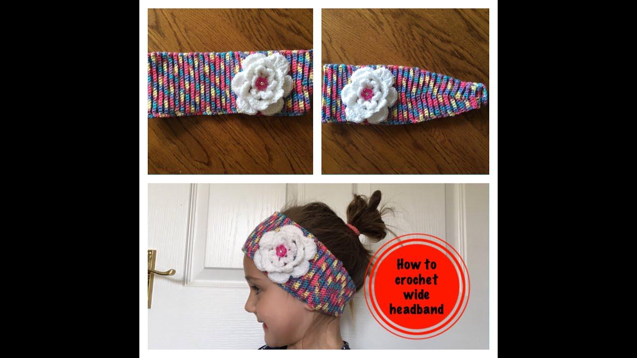How To Crochet Wide Headband Youtube