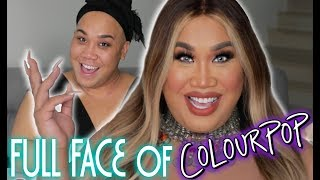 FULL FACE USING COLOURPOP MAKEUP | PatrickStarrr