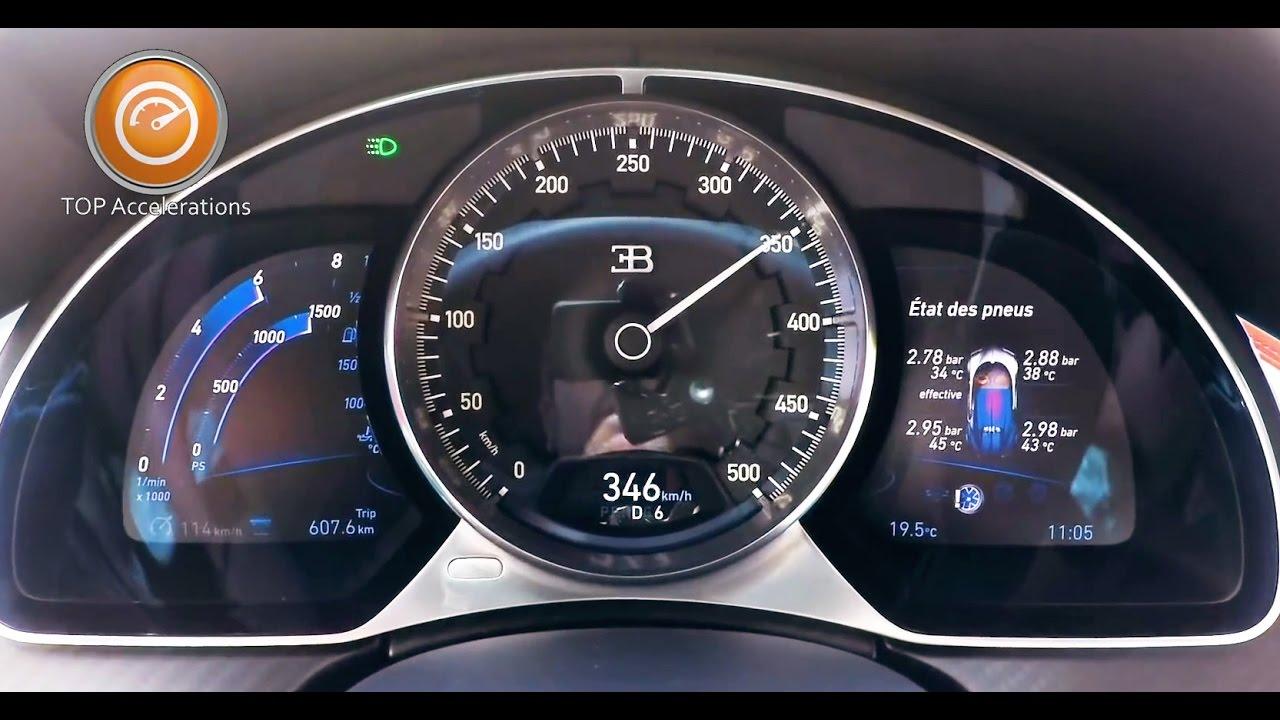 Bugatti Chiron (1500 HP) Sound & Acceleration 0-350 km/h ...