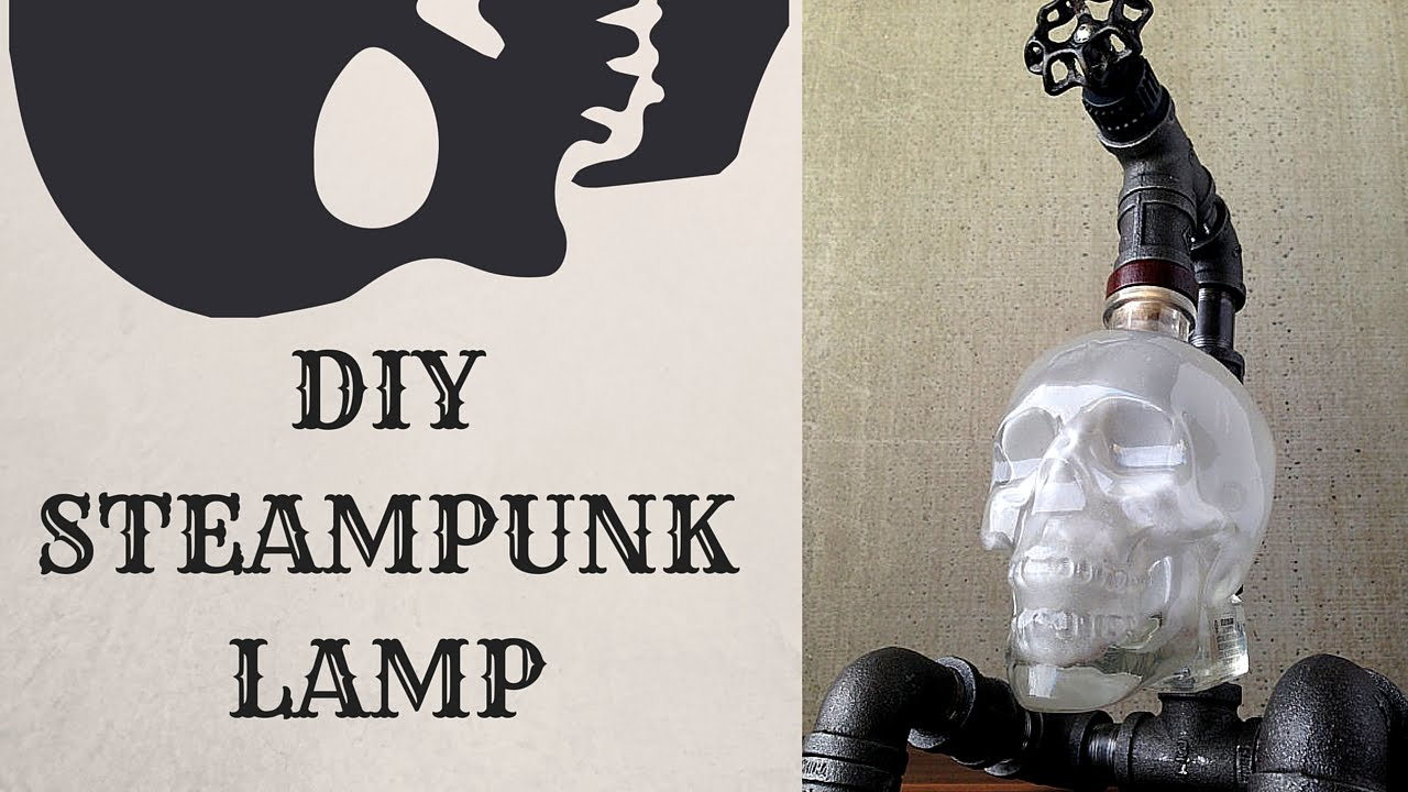 DIY Steampunk Skull Lamp - YouTube