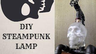 DIY Steampunk Skull Lamp