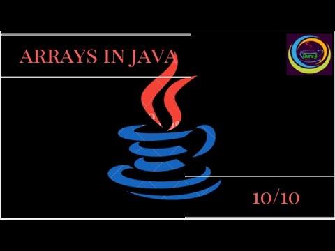 Explain Arrays in Java sort video.