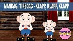 Mandag, tirsdag - klapp, klapp, klapp | Norske barnesanger