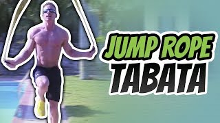 4 minute Jump Rope Tabata Workout For Weight Loss (BEGINNER TABATA)