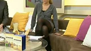 Repeat youtube video Bianca Schwarzjirg - Accavallo da infarto (legs in pantyhose and boots)