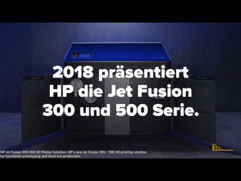 0 - HP stellt 3D-Farbdrucker vor: Jet Fusion 300 und 500 Serie