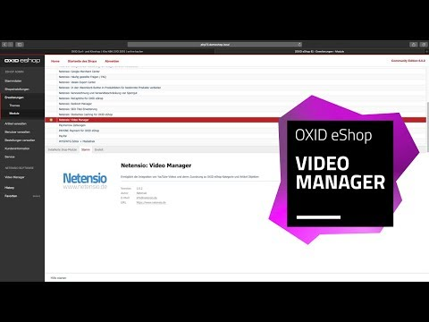 OXID eShop Modul: YouTube Video Manager