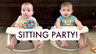 BABY GIRLS SITTING UP FOR THE FIRST TIME! - HOME RENOVATION UPDATE! /// McHusbands