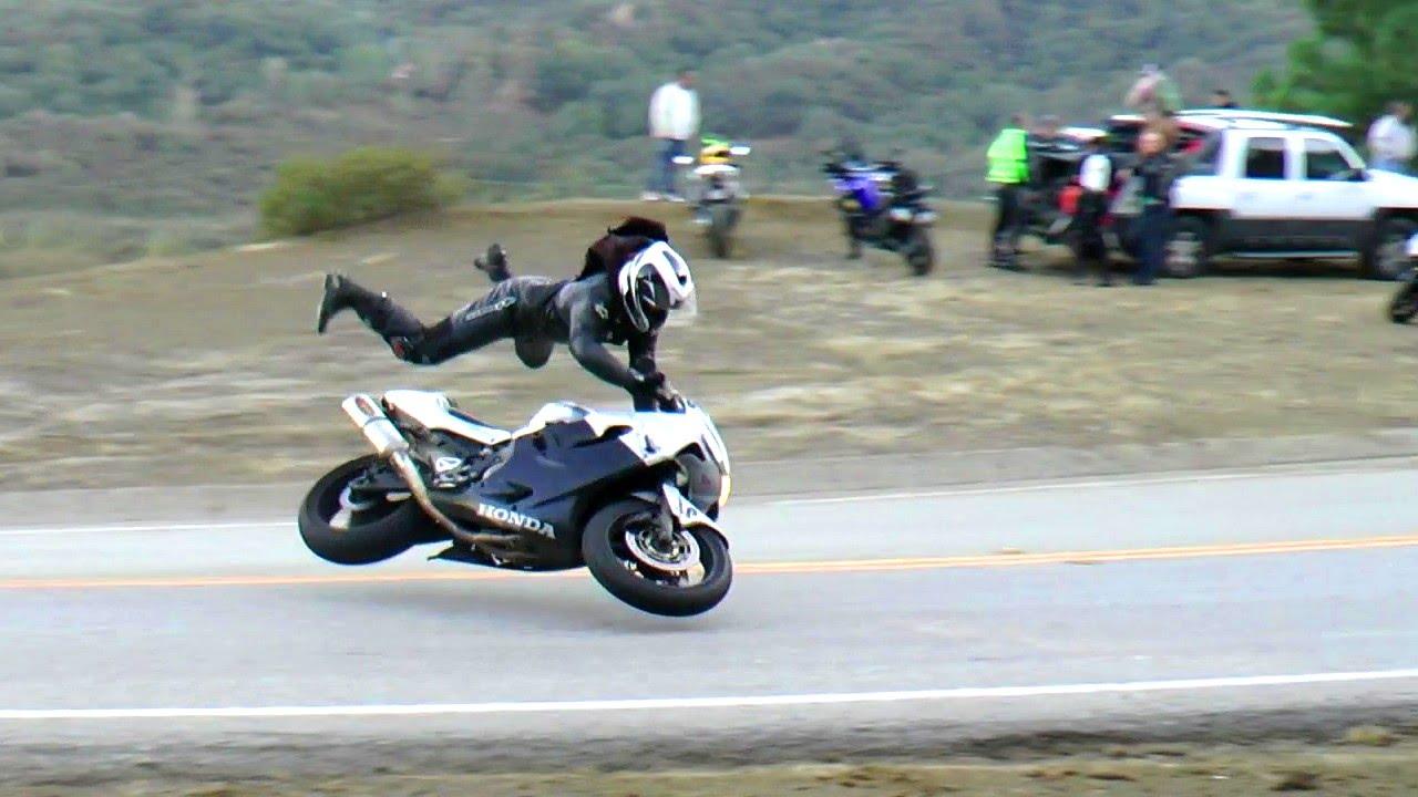 Honda F4i Highside Motorcycle Crash