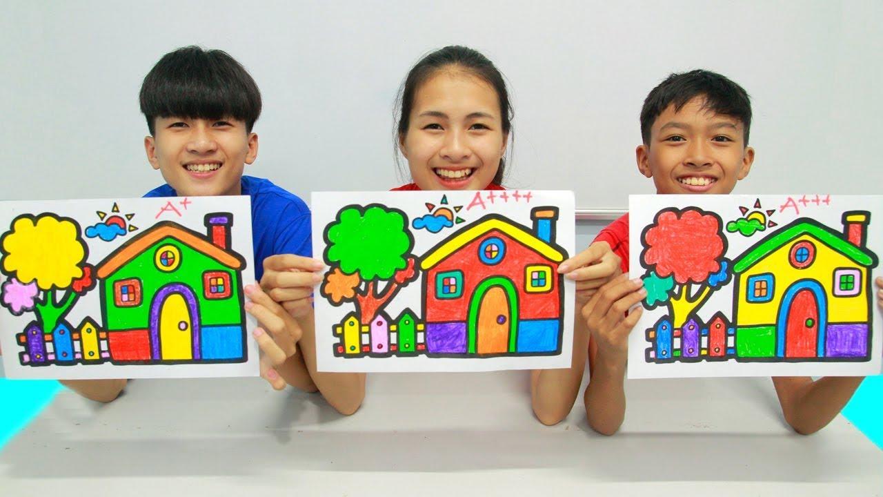 Rumah Berkilauan Warna Warni Belajar Menggambar Dan Mewarnai Untuk Anak