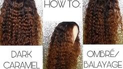 HOW TO: DARK CARAMEL OMBRE/BALAYAGE   FT ALI PEARL HAIR   LANI FELI