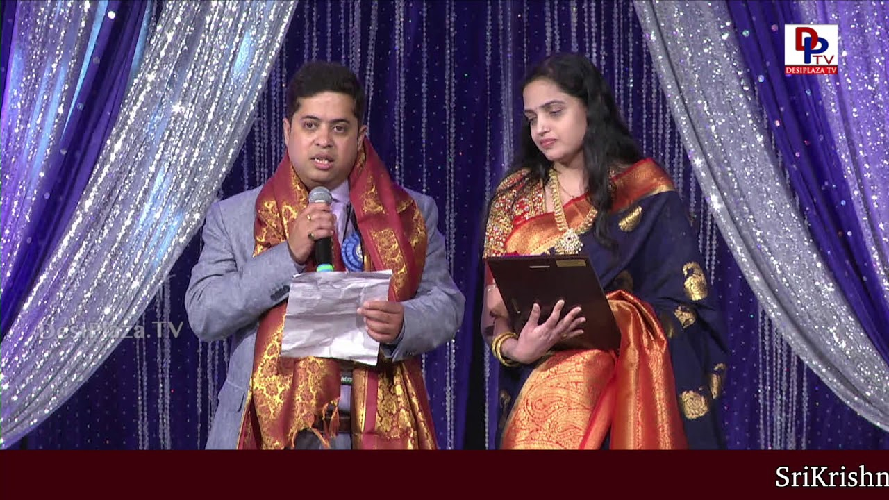 Mr. and Mrs. Mahesh Adibhatla felicitated at American Telugu Convention Banquet Night | DesiplazaTV