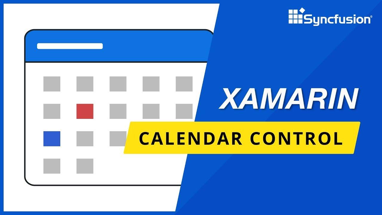 Xamarin Calendar Control