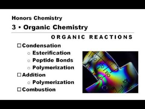 HC Unit 3 -- Organic Reactions