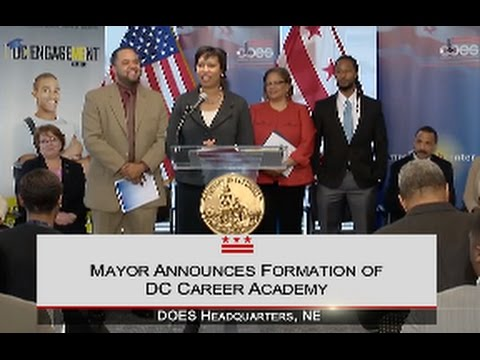 Mayor Bowser Announces District's New L.E.A.P. Academy, 3/27/15
